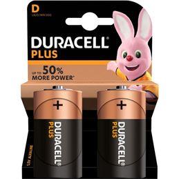Duracell LR20 Pila Alcalina plus x2 - Duracell-Plus-lr20-x2